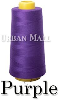 product image for 6000 Yards Purple Sewing Thread All Purpose 100% Spun Polyester Spools Overlock Cone (Upholstery, Canvas, Drapery, Beading, Quilting)