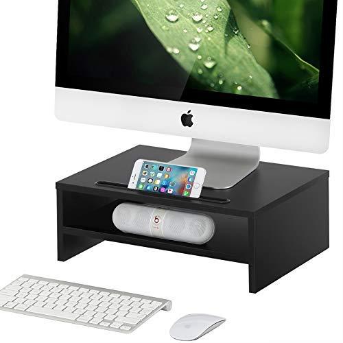 FITUEYES Monitorst/änder Bildschirmst/änder aus Holz f/ür Monitor//Laptop//iMac//Fernsher 38.5x28x14cm Schwarz DT203801WB