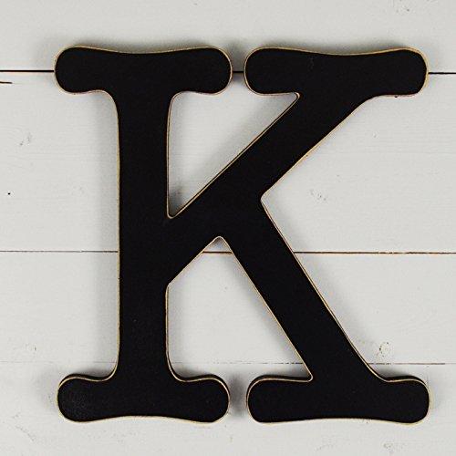UNFINISHEDWOODCO Typewriter Wall Decor Letter K, 11.5'', Black by UNFINISHEDWOODCO