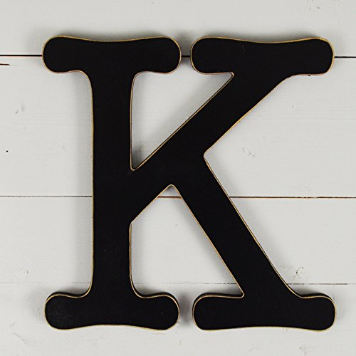 11.5'' Typewriter Wall Decor Letter ''K''- black by UNFINISHEDWOODCO
