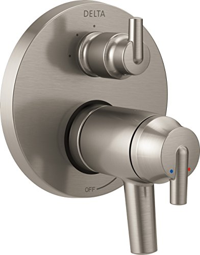 - Delta Faucet T27T859-SS Trinsic Contemporary TempAssure 17T Series Valve Trim with 3-Setting Integrated Diverter, Stainless,