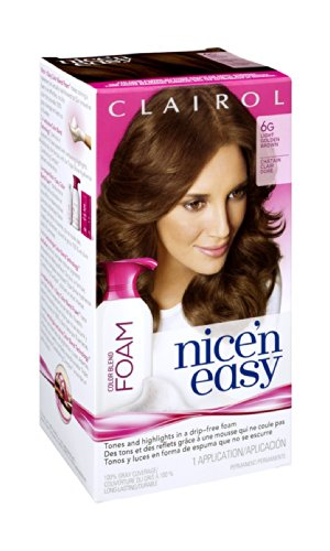 Цвет Clairol Nice 'N Easy Foam волос 6G Light Golden Brown 1 комплект (пакет из 12)