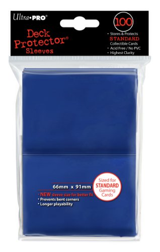 Ultra-Pro Sleeves: New Standard Blue Deck Protectors (100)