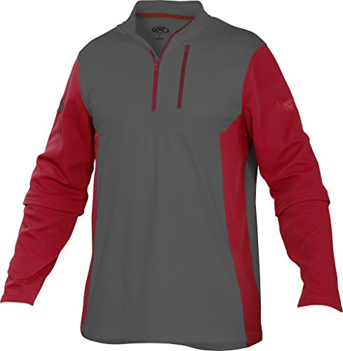 Rawlings  Youth 1/4 Zip Fleece Pullover, Medium, (Youth Quarter Zip Pullover)