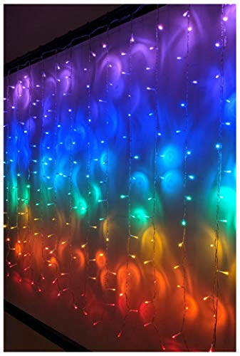 Something Unicorn - LED String Curtain Lights with Dimmer Switch for Teen Room, Girls Room, College Dorm, Nursery and Kids Room Décor. Perfect for Unicorn, Fairy & Rainbow Decoration. -Rainbow