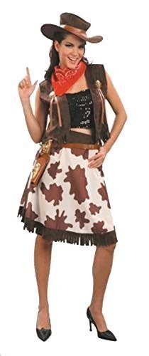 Plus Size Womens Wild West Cowgirl Costume Fancy Dress by The Dragons Den - Wild West Costumes Plus Size