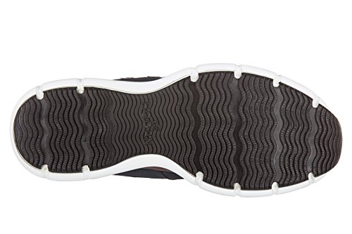 Hogan scarpe sneakers uomo in pelle nuove h254 h flock blu