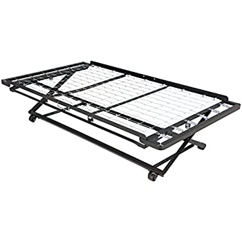 Amazon Com Twin Size Trundle Bed Frame Unfinished Wood