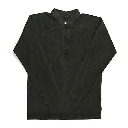 心から検出うまくいけば(グッドオン) Good On ヘビーウエイト ロングスリーブ スタンドカラー ラグビー ジャージー Tシャツ カットソー 無地 S P-Black GOLT1612