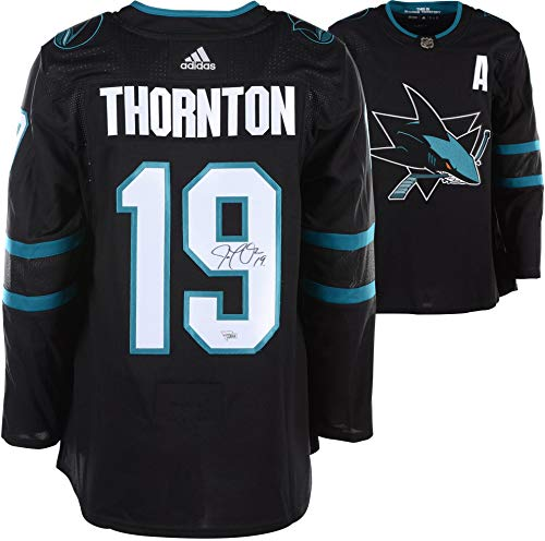 Joe Thornton San Jose Sharks Autographed Black Adidas Authentic Jersey - Fanatics Authentic ()