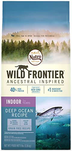 Nutro Wild Frontier Indoor Adult Whitefish Flavor Grain Free Dry Cat Food 5 Pounds