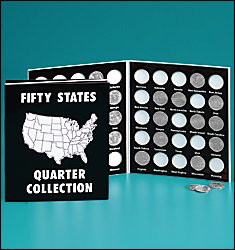 50 State Commemorative Quarter Folder 1999-2008 (Black and White) (Quarter Collection Album)
