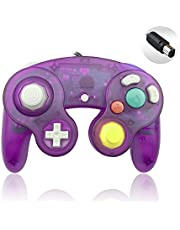 Reiso 1 Pack NGC Controller Classic Wired Controller for Wii Gamecube(Clear Purple)
