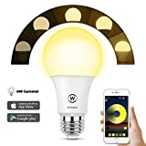 Zombber Bluetooth Mesh Smart Light Bulb, Hub Required for Working with Amazon Alexa and Google Assistant, A19 LED Dimmable 40 Watt Equivalent, Daylight Smartphone Controlled
