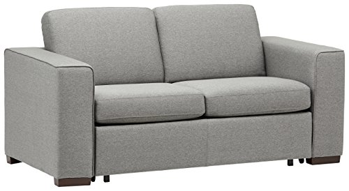 Rivet elliot easy pull modern sofa bed 71quotw grey for Easy pull out sofa bed