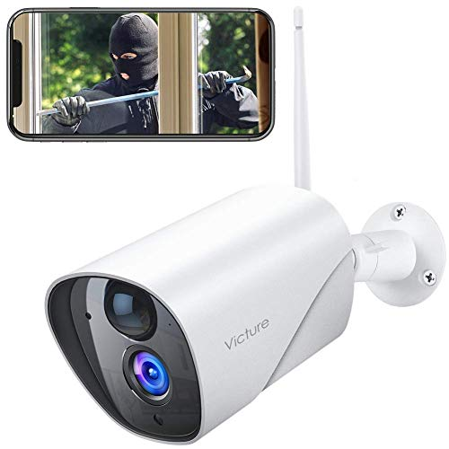 🥇 Outdoor Security Camera Victure 1080P IP65 Weatherproof Home Surveillance IP CCTV Camera 2.4G WiFi with Smart PIR Motion Detection/Night Vision/Two Way Audio Compatible with iOS & Android Systerm