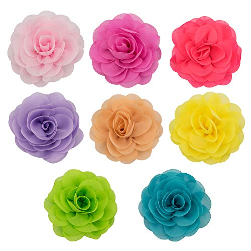 Pet Collar Charms Handmade Flower Accessories for Dog Collars Pack of 8 ()