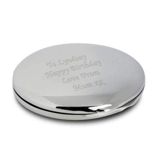 Personalized Engraved Compact Mirror - Birthday present