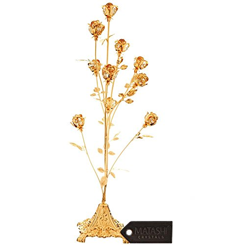 Matashi 24K Gold Plated Crystal Studded 23