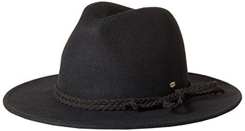 O'Neill Women's Sundance Felt Fedora Hat, Black, One Size (Felt Sundance)