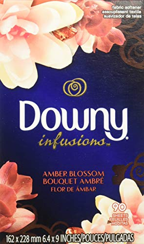 Downy Infusions Amber Blossom 90 Dryer Sheets (1 Box)