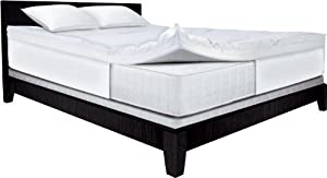 Amazon.com: Serta 4-Inch Dual Layer Mattress Topper, Queen ...