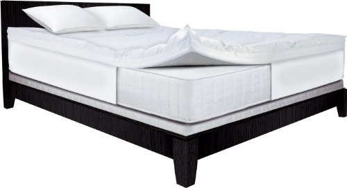 Serta 4-Inch Dual Layer Mattress Topper, (Serta Memory Foam Bed)