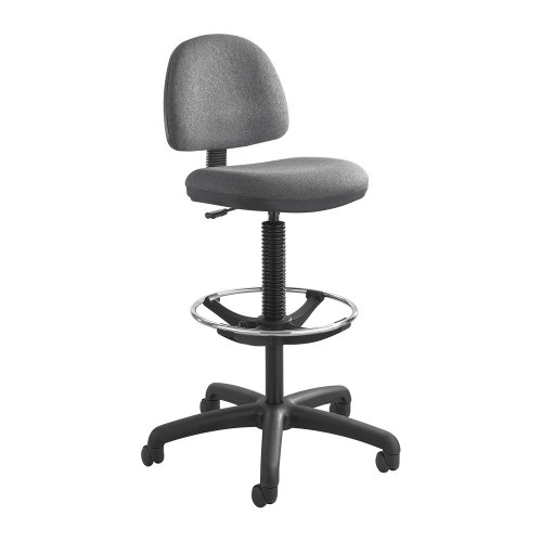 SAF3401DG - Safco Precision Extended Height Chair with Footring (Drafting Precision Safco Chair)