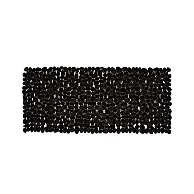 NTTR Non Slip Bath Mat Tub Mat Pebbles Bathtub Mat Anti Slip Shower Mats(Clear Black,16 W x 35 L Inches)