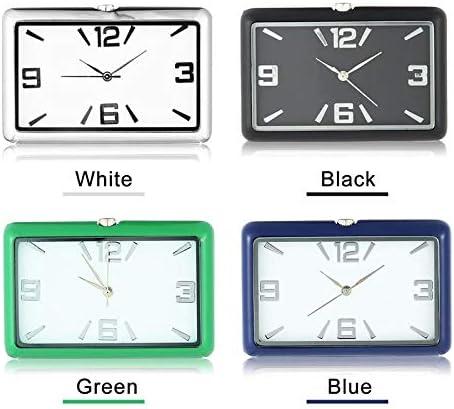 Maison Volwco Mini Horloge de Tableau de Bord de Voiture rectangulaire analogique /à Quartz pour Console de Tableau de Bord de Voiture /étude d/écoration