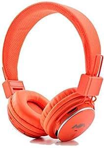 NIA Adjustable Orange Bluetooth Wireless FM Micro SD Player MP3 Headphone Headset for iphone ipad