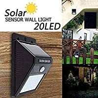 SCROSS Solar Wireless Security Motion Sensor Night Light - 20 LEDs Bright and Waterproof for Outdoor/Garden Wall