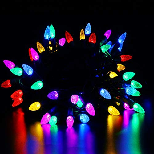 50 Ct Multi Color Led C9 Christmas Lights in US - 8