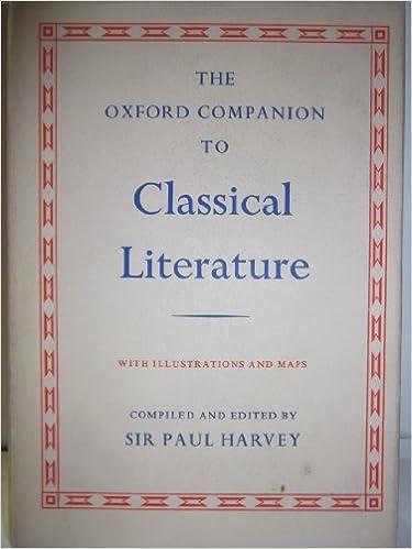 Oxford Companion to Classical Literature
