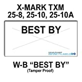 201,600 X-Mark 2512 compatible ''Best By'' White General Purpose Labels to fit the X-Mark TXM 25-8, 25-10 & 25-10A Price Guns. Full case, includes 8 ink rollers.