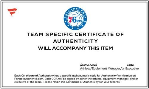 Fanatics Authentic Certified 2017 Tiago Splitter Philadelphia 76ers Player-Issued #47 Gray Button Down Pants vs New York Knicks On April 12 Size 2XL