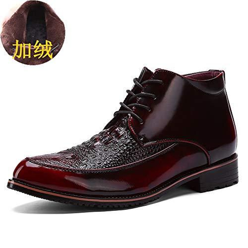 Oxford Cotton Top High Casual convenzionale Vintage Warm Red formali Nero Scarpe Casual Xujw EU uomo Scarpe Stringate Basse 43 per Dimensione Business shoes Warm da opzionale Color 2018 wv8qzaO