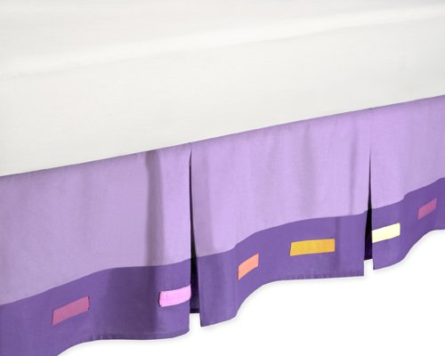 (Sweet Jojo Designs Danielle's Daisies Queen Purple Bed Skirt)