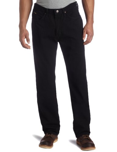 Lee Men's Relaxed Fit Straight Leg Jean, Double Black, 38W x 32L