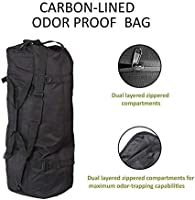 TopoGrow Odor Absorbing and Water Resistant Luggage Smell Proof Luggage Duffle Odor Absorbent Smell Proof Bags XXL Backpack for Hydroponics