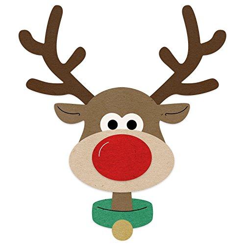 Reindeer Die - Cheery Lynn Designs Brad The Reindeer Scrapbooking Die Cut Set, 7 Piece