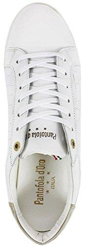 Pantofola d'Oro Caltaro Weiß Leder Herren Schuhe Sneaker