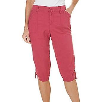 Gloria Vanderbilt Women's Felicia Cargo Capri Pants at Amazon ...