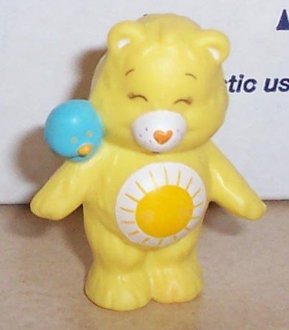 1984 Kenner Care Bears Funshine Bear Mini Pvc Figure Vintage