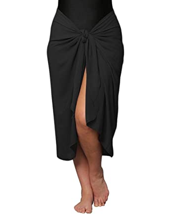 591e40b38ce0f Plus Size Sarong Wrap Cover Up Long with Easy Wearing Built in Ties -  Wrinkle Resistant