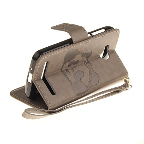 PU Prägen Panda Silikon Schutzhülle Handyhülle Painted pc case cover hülle Handy-Fall-Haut Shell Abdeckungen für (Huawei Y3 II / Y3 2 (4,5 Zoll) +Staubstecker (1XB) 1