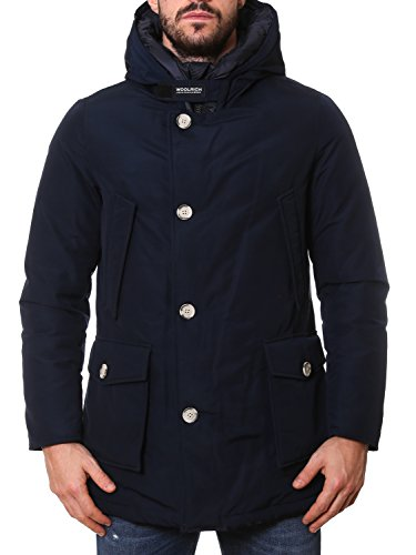 Blu Cappotto Cotone Woolrich Wocps2476cn01mlb Uomo 8Id8q6