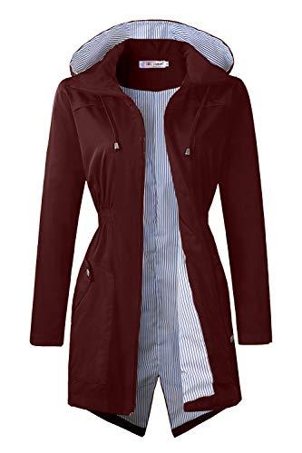 BBX Lephsnt Raincoats Waterproof Lightweight Rain Jacket Active Outdoor Hooded Women's Trench Coats