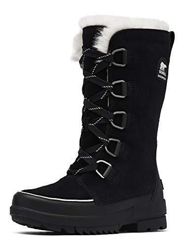 Sorel - Women's Tivoli IV Tall Waterproof Insulated Winter Boot with Faux Fur Collar, Black, 7.5 M US
