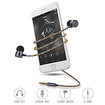 Langsdom®T16 Noise Isolating In-ear Sport Earphone with Microphone Noise Isolating Ear-hook Earbuds